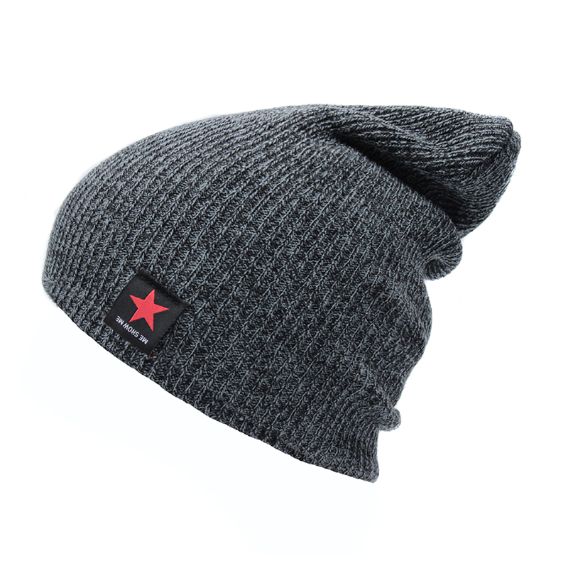 Hip Hop Male Cap Women's Solid   Skullies     Beanies   With Label Fashion Casual Brand Autumn Knitted Hat Female   Beanies   Men Winter