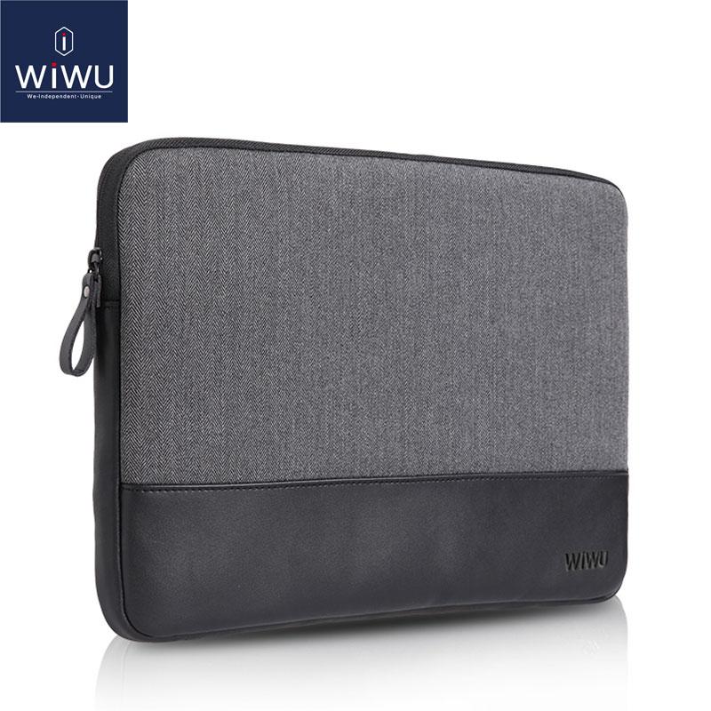 WIWU ლეპტოპის ყდის ყუთები Macbook 13 ტყავის ნოუთბუქის შემთხვევაში 13.3 for Dell Inspiron 13 კომპიუტერული ყურისთვის MacBook Pro 13 2017