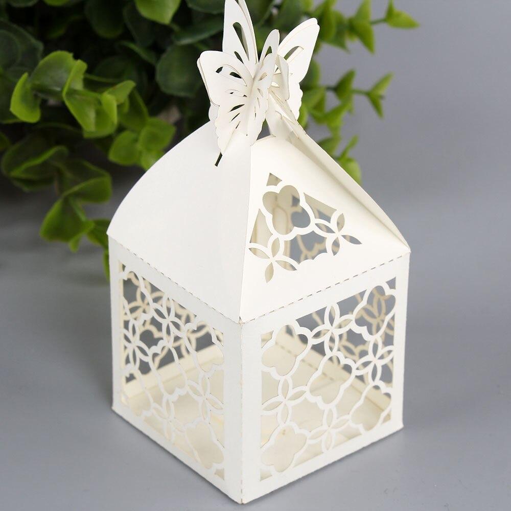 free shipping 50pcs 5 * 5 * 5cm candy box wedding gift ideas ...