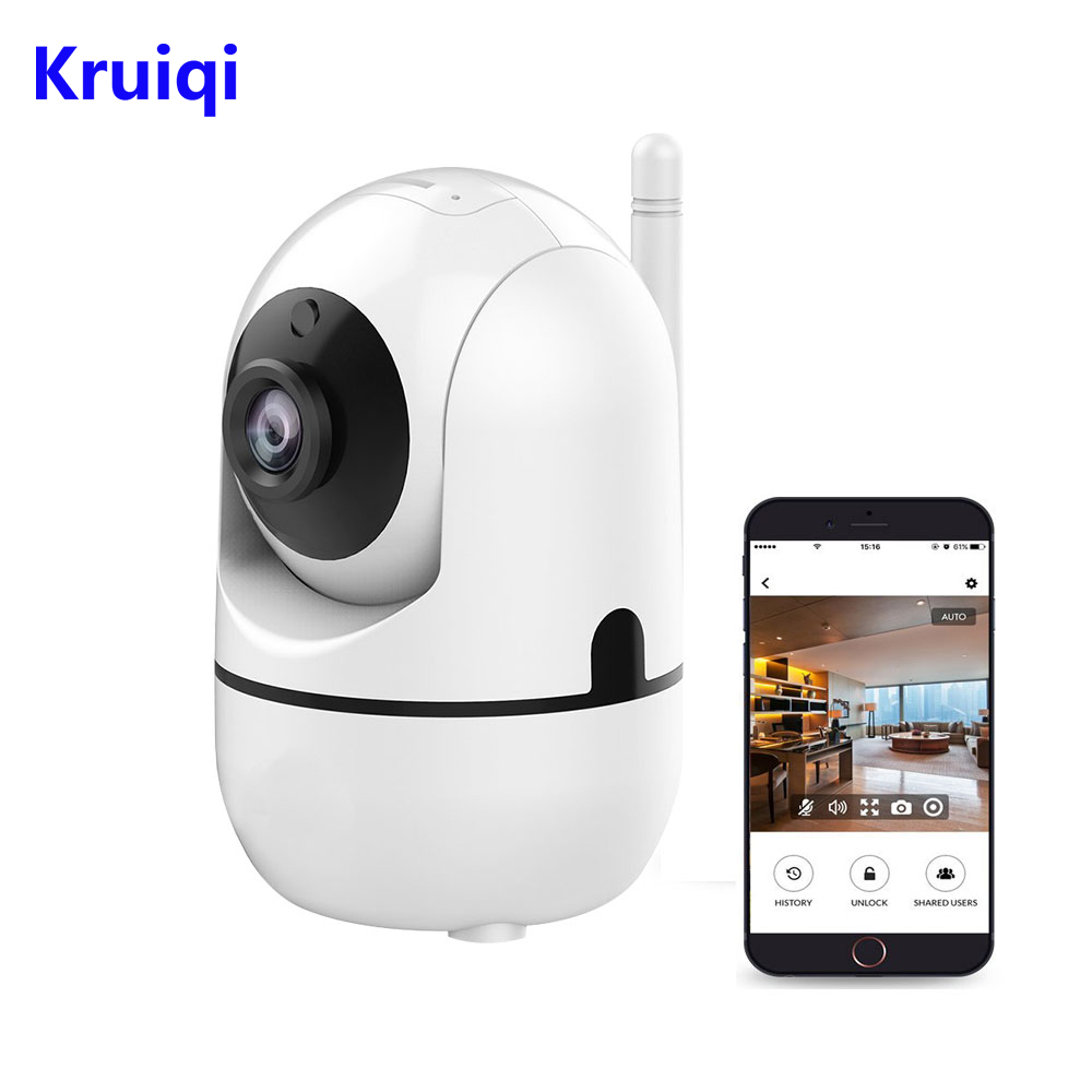 Kruiqi WiFi <font><b>IP</b></font> Camera 720P HD Wireless Indoor Home Surveillance Camera with Motion Detection for Baby Elder Pet Pan/Tilt/Zoom image