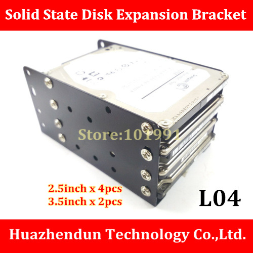 High Quality DIY mini chassis 2.5 inch to 3.5 inch SSD Solid State Disk Expansion Bracket L04 2.5inch-4pcs 3.5inch-2pcs(China)