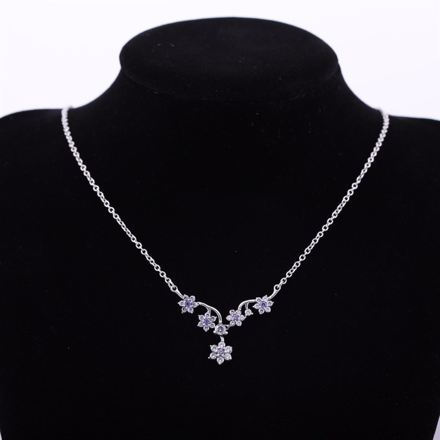 2017 Sale Real Plant Collares Collier Fashion Jewelry Accessory 100% Sterling For Woman Cz Crystal from Swarovski  Necklace