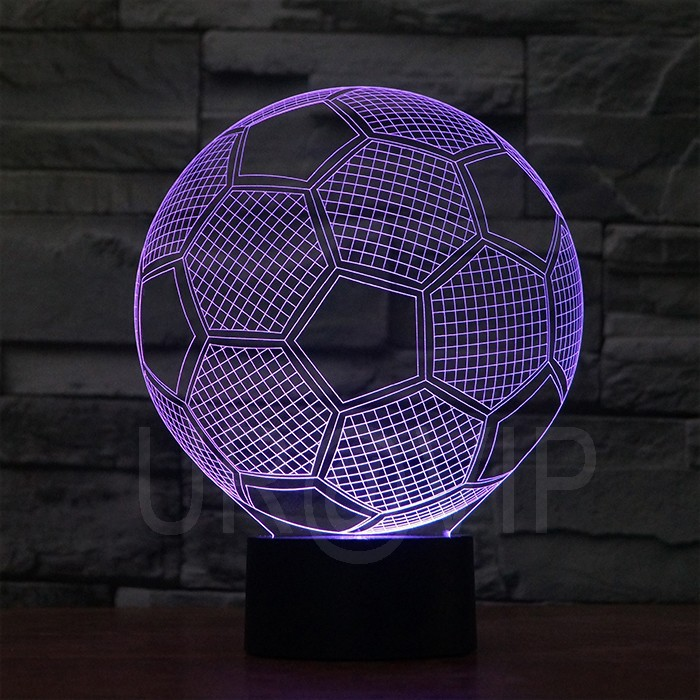 JC-2882 Amazing 3D Illusion led Table Lamp Night Light with football  shape (7)