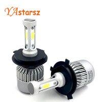 2Pcs H4 LED H7 H11 H8 9006 HB4 COB S2 Auto Car Headlight 72W 8000LM High
