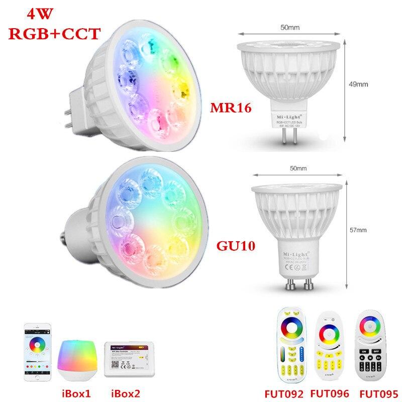 Cct Led Bulb 12v 110v 127v 220v 230v E27 Gu10 Mr16 4w 9w 2.4g Rf Remote Wifi Control Rgbww Led Lamp 100% Original Mi Light Rgb Lights & Lighting