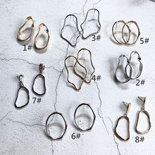 8 pairs Minimalist stud Earring Irregular Metal Abstract Geometric Hyperbole Gold and Silver Earrings for Girl Women Jewelry