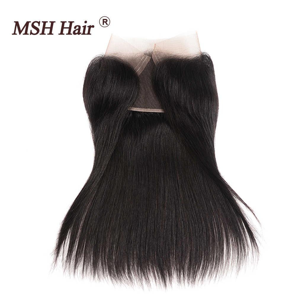 MSH שיער פרואני תחרה פרונטאלית סגירה ישר שיער 13x4 משלוח חלק אוזן לאוזן 150% צפיפות ללא רמי שיער משלוח חינם 8-20 inch