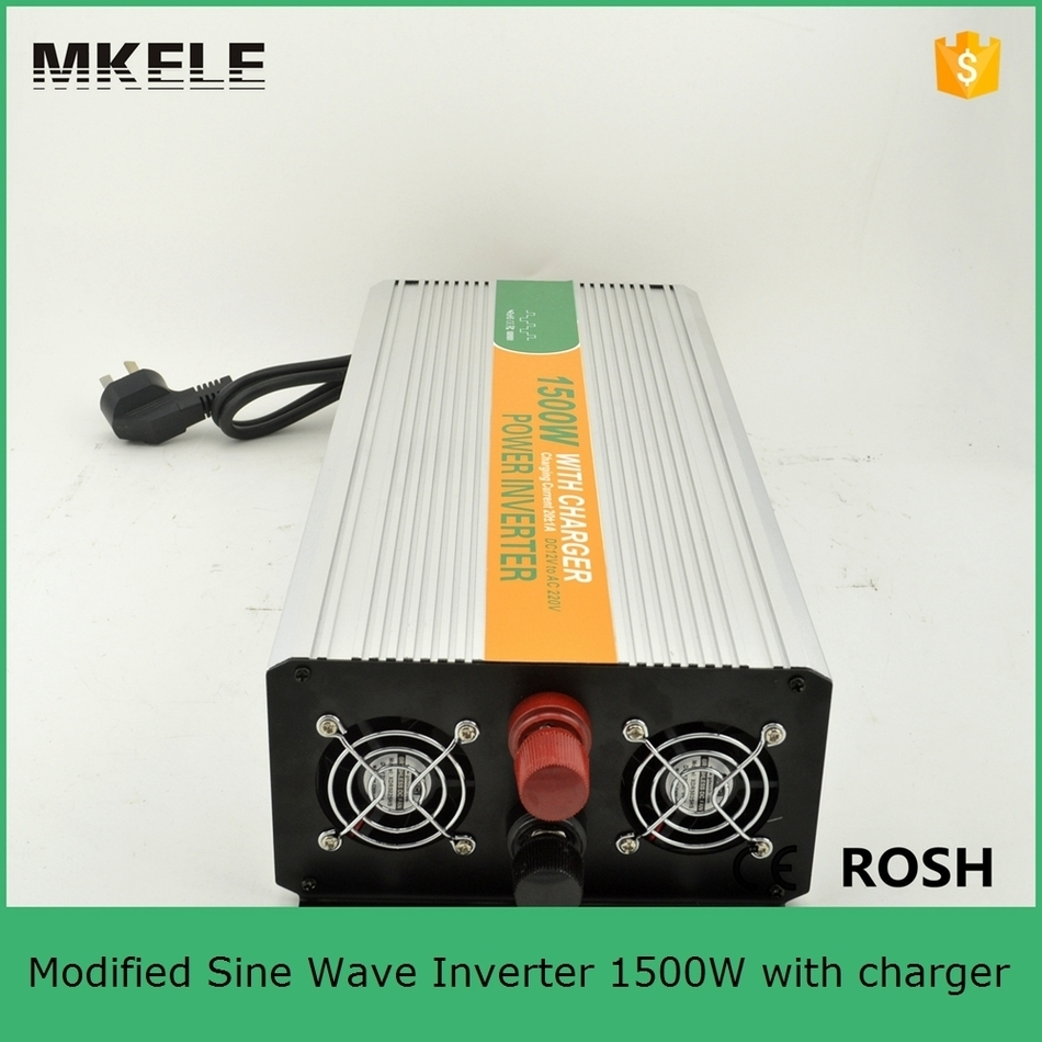 MKM1500 122G C modified sine wave 12vdc 240vac dc to ac power inverter for home use 12v power inverter with charger