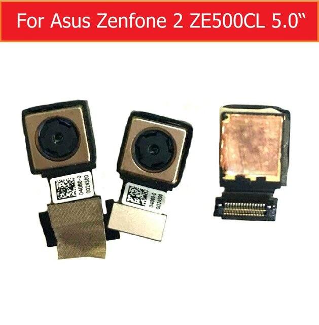 100% caméra Arrière D'origine pour Asus Zenfone 2 ZE500CL Z00D 5.0 retour caméra grand face à la caméra avec flex pièces de rechange dans stock
