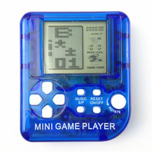 Classical Game Tetris Electronic Mini Cyber Machine Education Toys For Kids Keychain Gifts toys color random