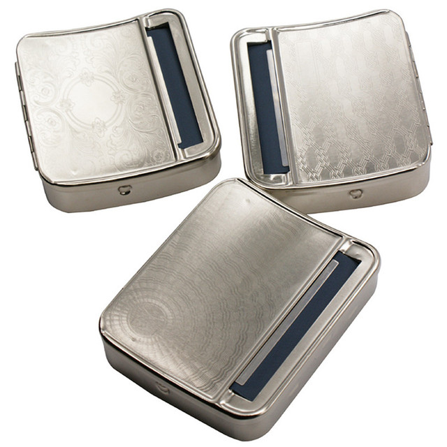 78MM Automatic Rolling Machine Tin Box Metal Roller Cigarette Tobacco Cases Roll Up Dec15