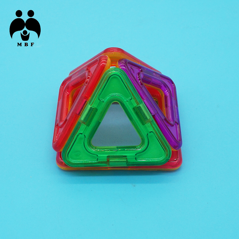 MBF Brand Magnetic Blocks For Children Kids Boys Girls Three-dimensional Small Triangle Cone Shape Support Wholesale