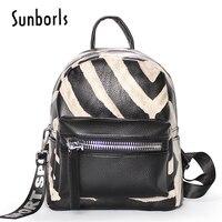 Zebra pattern Women backpacks fashion PU leather shoulder bag small backpack School Bags for teenager girl bag 2v11104