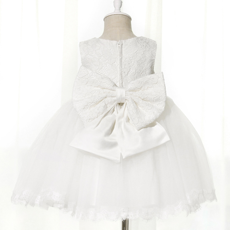 9f7b6796f 2 8Y toddler Girl birthday Dress Girls pink white Flower Lace Big Bow  wedding Party Dresses Kids Princess Dress christmas-in Dresses from Mother  & Kids on ...