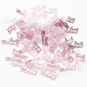 """Image 4 - Heißer Verkauf 380pcs Tabelle Party Scatter Konfetti Gold Silber """"Nur Verheiratet"""" Design Für DIY Party & Hochzeit dekoration Liefert"""