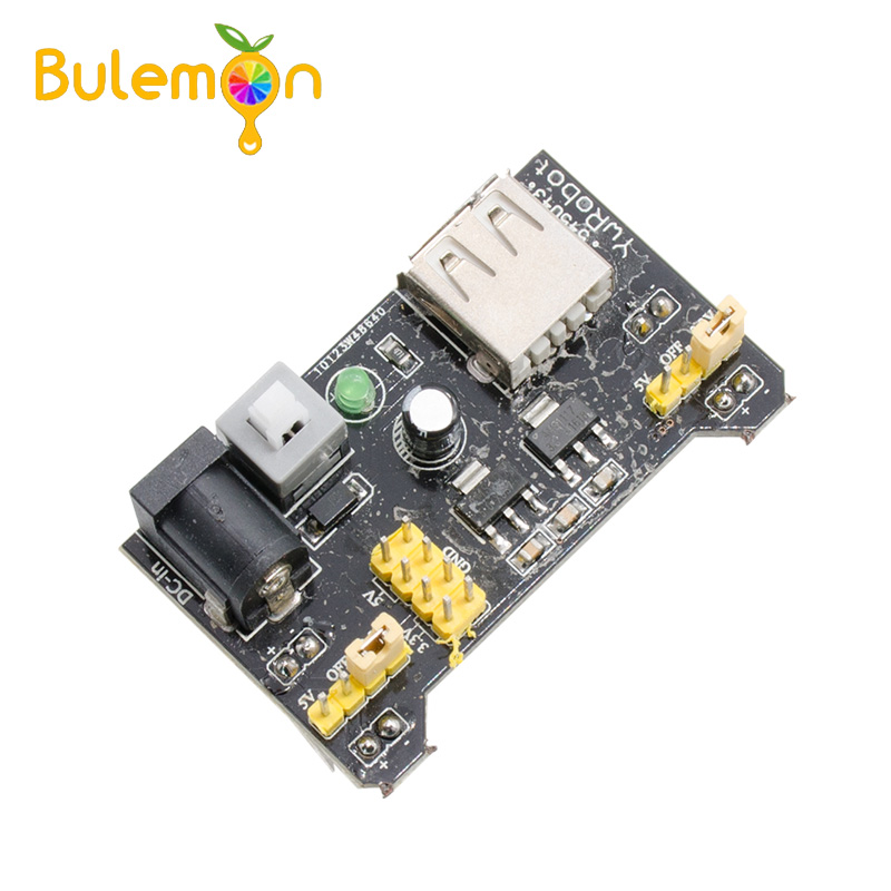 5pcs/lot Breadboard Power Supply Module 3.3V 5V For Arduino Solderless Bread Board Voltage Regulator DIY