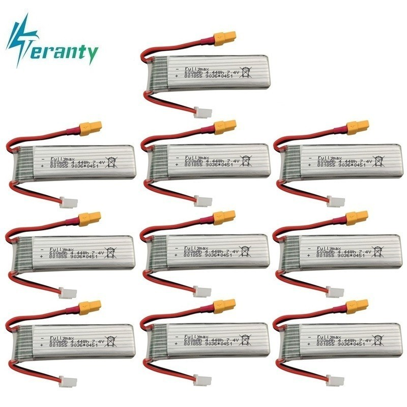 7.4V 600mAh Lipo Battery For XK K130 RC Six-way Brushless Aileron Helicopter Spare Parts Accessories 2s Drone Battery <font><b>801855</b></font> image