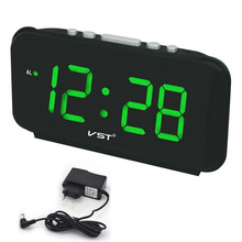 Digital LED Alarm clock Large Number desk clocks AC Power EU Plug/US Plug Table clock with Green Blue Red White Color display