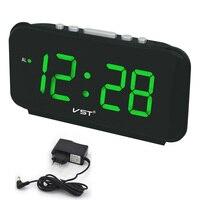Digital LED Alarm clock Large Number desk clocks AC Power EU Plug/US Plug Table clock with Green Blue Red White Color display