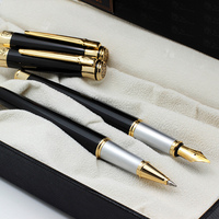 2pcs Pimio 903 Rollerball Pen Fountain Pen 0.5mm Metal Gold Clip Black Luxury Business Office Gift Pens for Lover