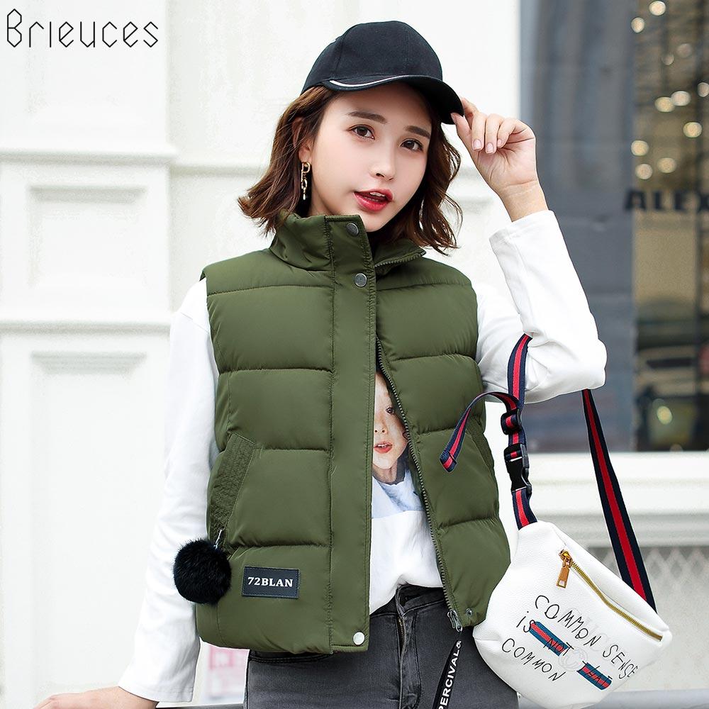 Brieuces 2019 Beiläufige Warme Weste Frauen Winter Candy Farbe Weste - Damenbekleidung - Foto 6