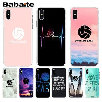 Babaite I love Volleyball Sports New Stylish Phone Case For iphone 8 8plus and 7 7plus 6s 6s Plus 6 6plus 5s Cellphones image