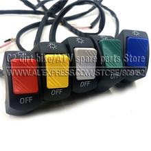 1 шт 12V 7/8in на руль мотоцикла или включения/выключения для светодиодный головной светильник противотуманная фара глаз светильник стайлинга автомобилей переключатель
