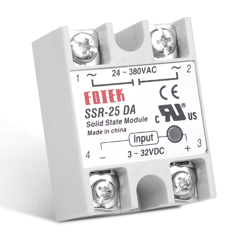 цена на DC-AC 25A Solid State Relay Single Phase SSR Relay Module SSR-25DA
