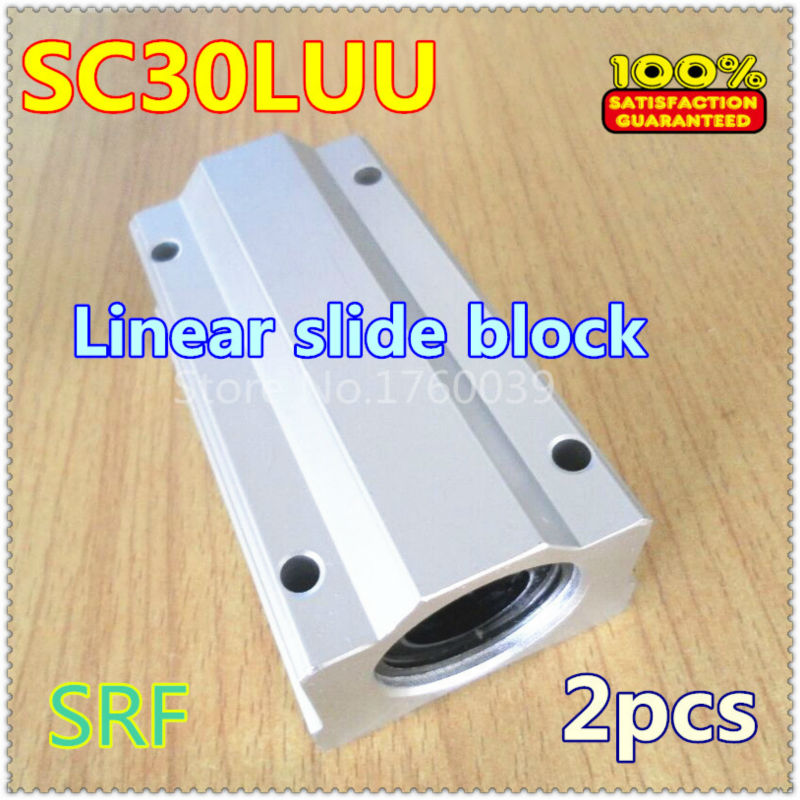 1pcs  SC30LUU SCS30LUU Linear Bearing 30mm linear motion ball slide block tbr30 30mm linear motion ball bearing pillow block silver tone