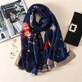 2017 Newest Scarf Women Fashion bandana Printing Silk Scarf Luxury Brand Foulard Femme Scarves and shawl hijab