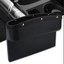 רכב מושב ארגונית עור רכב מושב תיבת אחסון קונסולת צד כיס עם החלקה הסלולר ארנק מטבע מפתח כרטיס