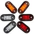 12 V/24 V 2 LED Lado Marcador Blinker Luzes Laterais Reboque Clearance Lamp Bulb Para Reboques Do Caminhão Do Carro UTE
