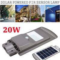 LED Sensor Solar Powered 20W 40pcs Wall Street Light Lamp Aluminum Alloy Wterproof IP67 for Outdoor Path Lighting