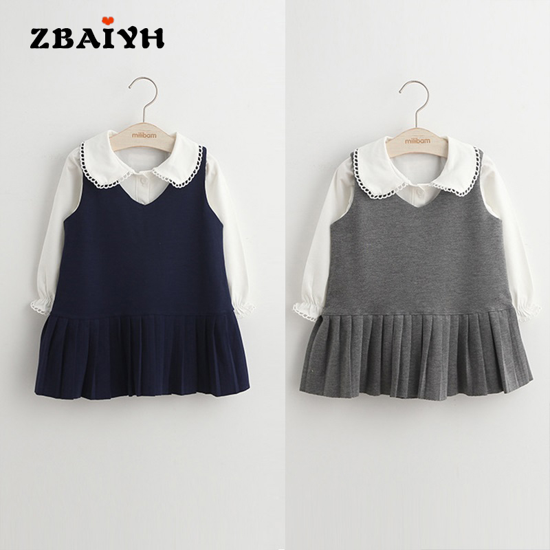 Baby Girls Clothing Set T-Shirt+skirt Outfits 2Pieces Suits Kids Clothes Students Style Cute Girls Skirts Sets Toddler Costume