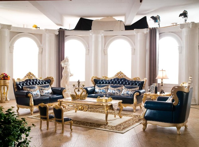 leather sofa set for living room navy and grey ideas royal furniture italian with european style sofas