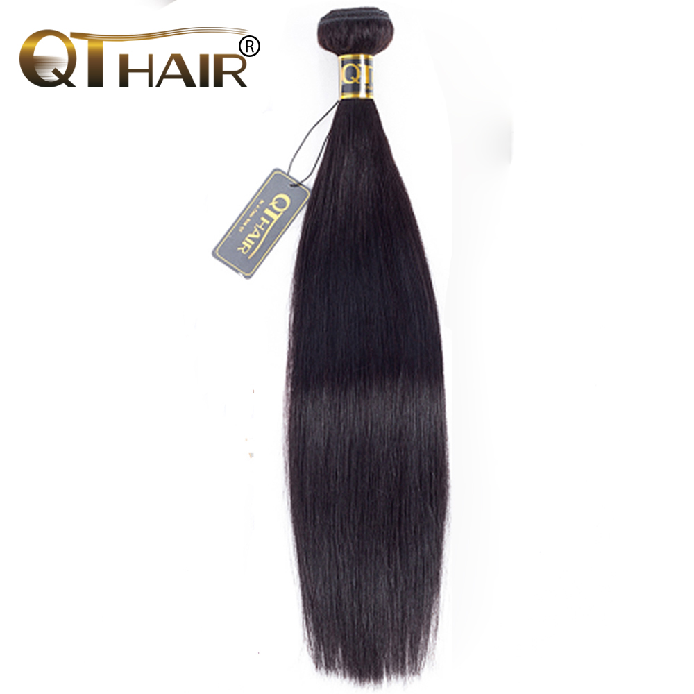 Peruvian Straight Hair Bundles Human Weave Behov Køb 1/3/4 Pieces 8-28 Inch Natural Black QThair Non Remy Hair Extensions