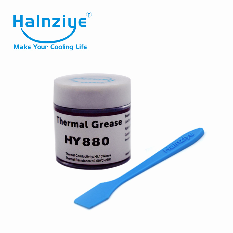 50pcs/lot can with 10g <font><b>thermal</b></font> grease / <font><b>thermal</b></font> <font><b>paste</b></font> / <font><b>thermal</b></font> compoound <font><b>HY880</b></font> for fix computer & laptop ship by EMS image