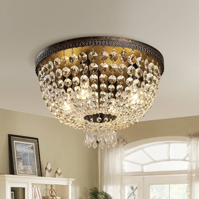 Amerikaanse Loft Keizerlijke Crystal Slaapkamer Plafondlamp Luxe ...