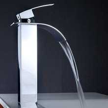 СЖС Горячий Новый Одной Ручкой Водопад Раковины Ванной Комнаты Centerset Туалете Кран Высокий Chrome
