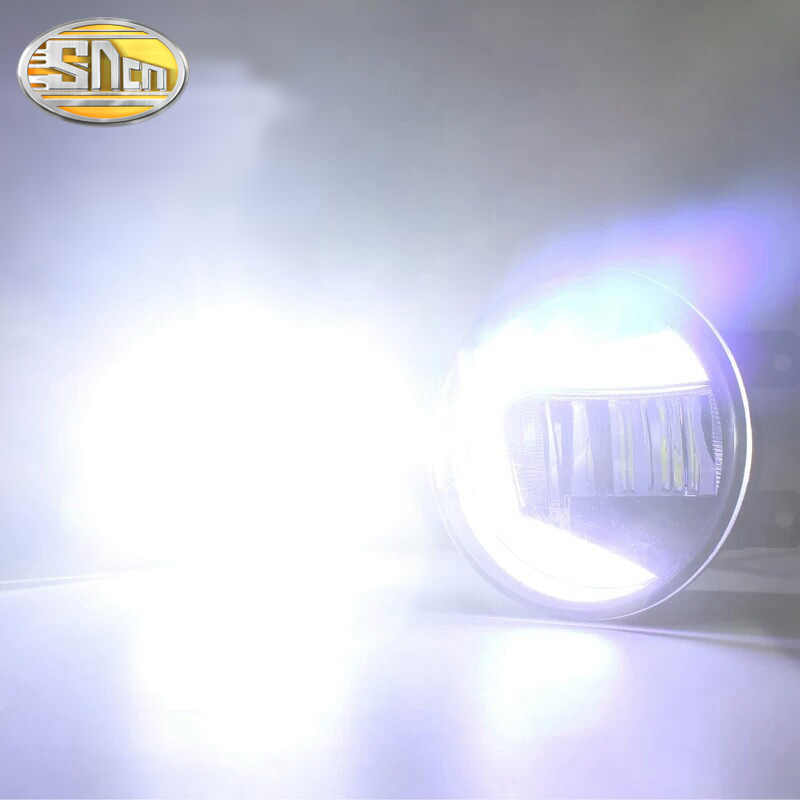 For Toyota Fortuner 2013~2017 LED Projector Fog Lamp DRL Daytime Running Light Waterproof High brightness