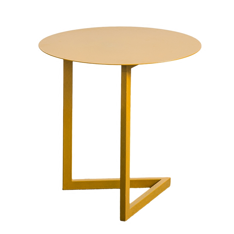 Created Metal Round End Table Modern Designed Living Room Coffee Table end table