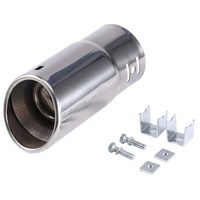 Universal Car Vehicle Car Exhaust Muffler Stainless Steel Tail Pipe Chrome Trim Decorative Tip Exhaust Pipe