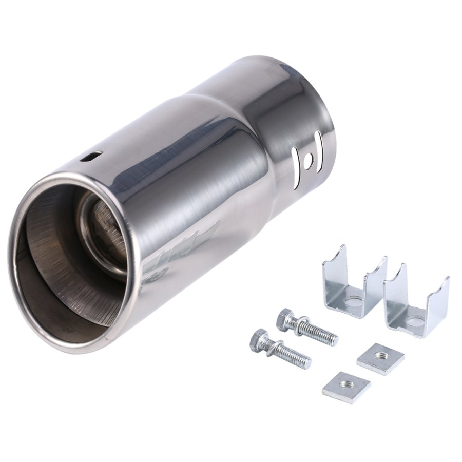 Universal Car Vehicle Car Exhaust Muffler Stainless Steel Tail Pipe Chrome Trim Decorative Tip ...