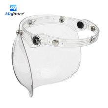 3 кнопки пузырь щит маска козырек для мотоцикла Винтаж открытым Уход за кожей лица шлем