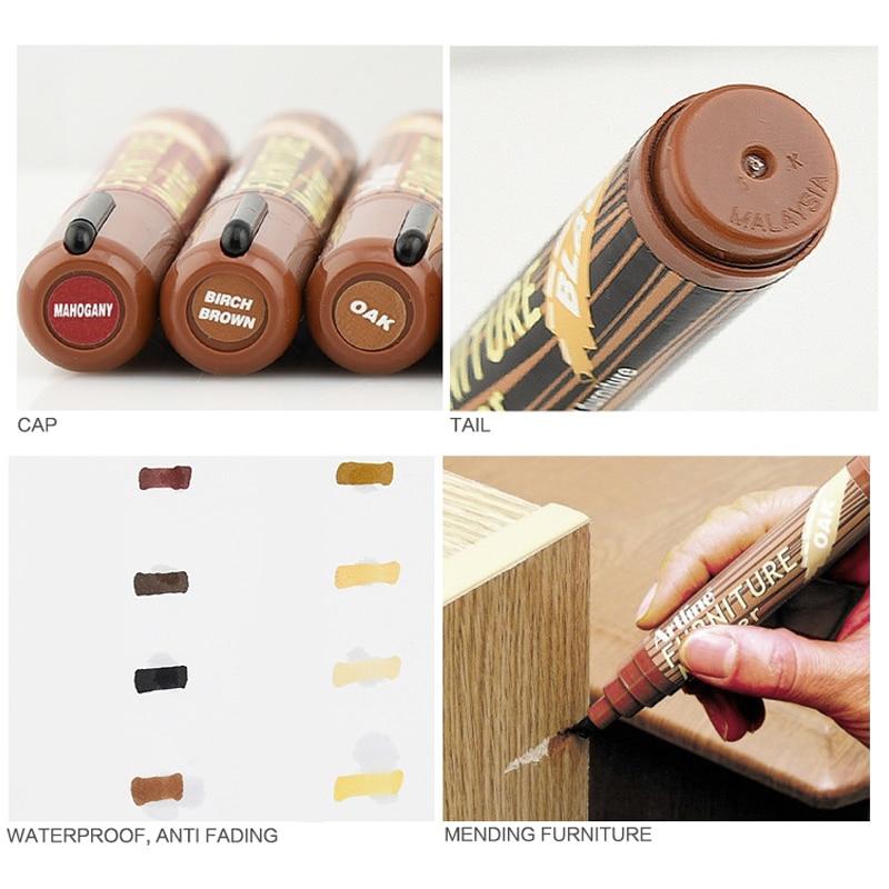 8 Colors Wood Furniture Floor Repair Marker Pens Table Cloth Paint Repair Marker For Mending Concealer Light Dark Color Choose pack of 10 furniture chest drawer bottom sagging repair fix mend mending wedges
