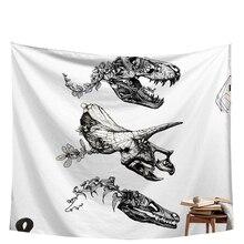 dinosaur skull punk tapestry wall decor drop shipping bohemia wall clothes 2018 mandala wall hanging