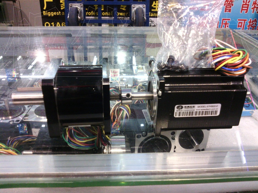 New Leadshine double-shaft stepper motor NEMA 23 out 2.2NM install 1:5 reducer make up a reduction box can our 11NM gearbox a stepper motor nema 17 out 0 3nm install with a worm reducer make up a stepper motor deceleration gearbox