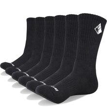 YUEDGE 6 пар хлопок подушки экипажа носки Спортивные Тренировки Бег Прогулки Спорт Скейтборд