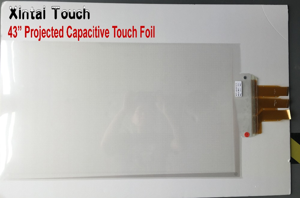 Free Shipping 43 inches Interactive Touch Foil multi 20 points touch foil film touch film side