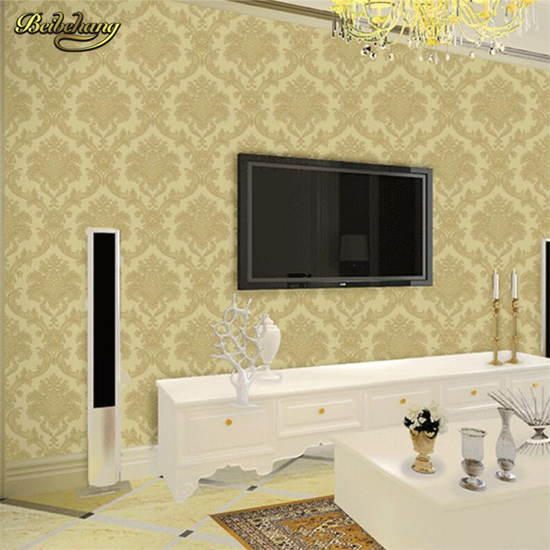 beibehang Modern Wallpaper Roll PVC Wall Paper Embossed Home Decor mural wallpaper for Living Room Bedroom TV Backdrop Light book knowledge power channel creative 3d large mural wallpaper 3d bedroom living room tv backdrop painting wallpaper